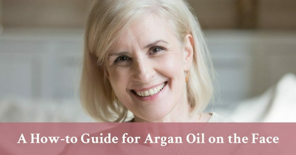 senior woman smiling argan