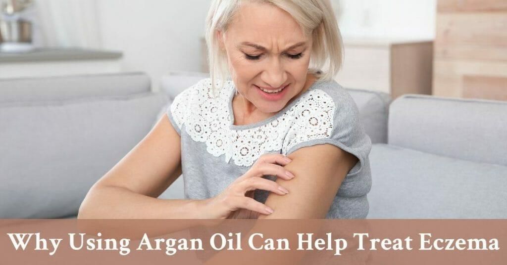 woman scratching skin