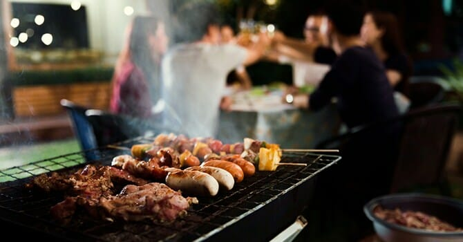 Barbecue Is One Of Men'S Favorite Foods