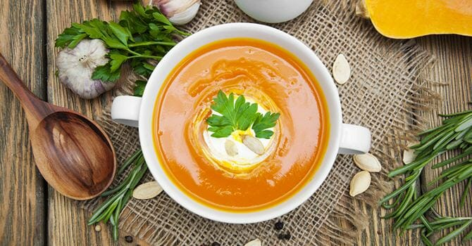 Soup Made With Healthy Ingredients Can Make A Great Morning Snack