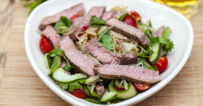 A Beef Salad Is A Very Healthy Dish