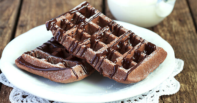 Chocolate Waffle Is One Of The Best Thing That You Can Give To Your Loved One