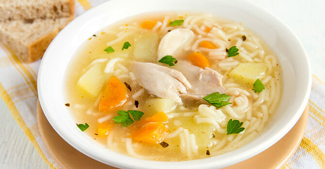 Chicken Soup Is Delicious And Healthy