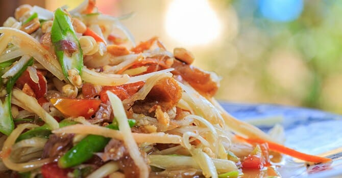 A Delicious Serving Of Papaya Salad