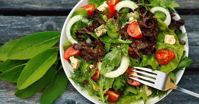 Salad Is Delicious And Healthy For The Skin