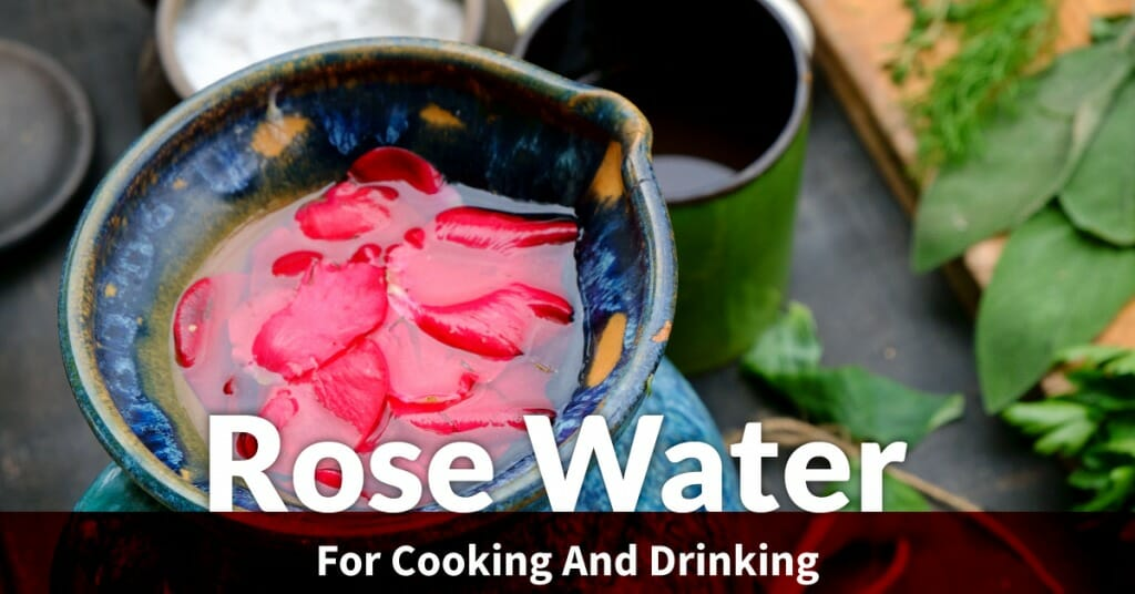 rose water in culinary