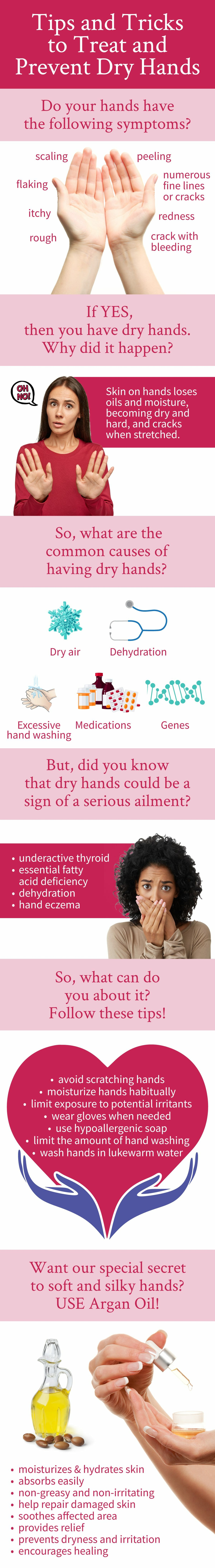 dry hands infographic