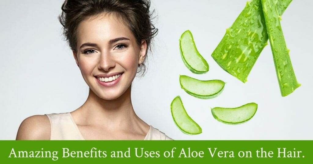 smiling woman with aloe vera background