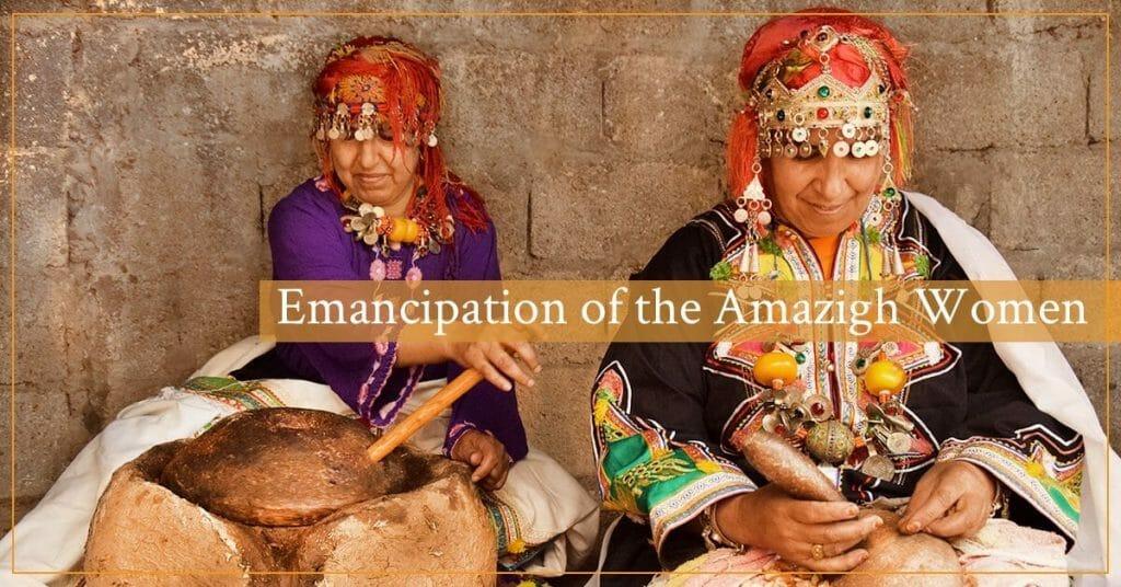 Berber women producing argan oil