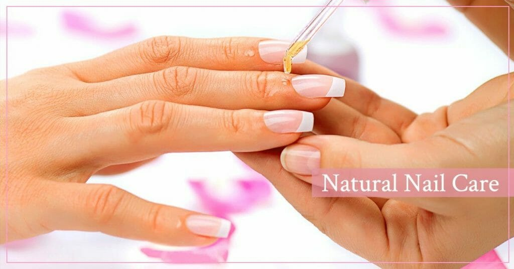 applying oil on healthy nails