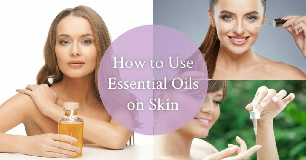 different women using essential oils