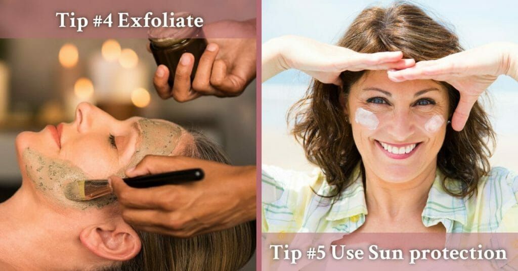 exfoliating and sun protection