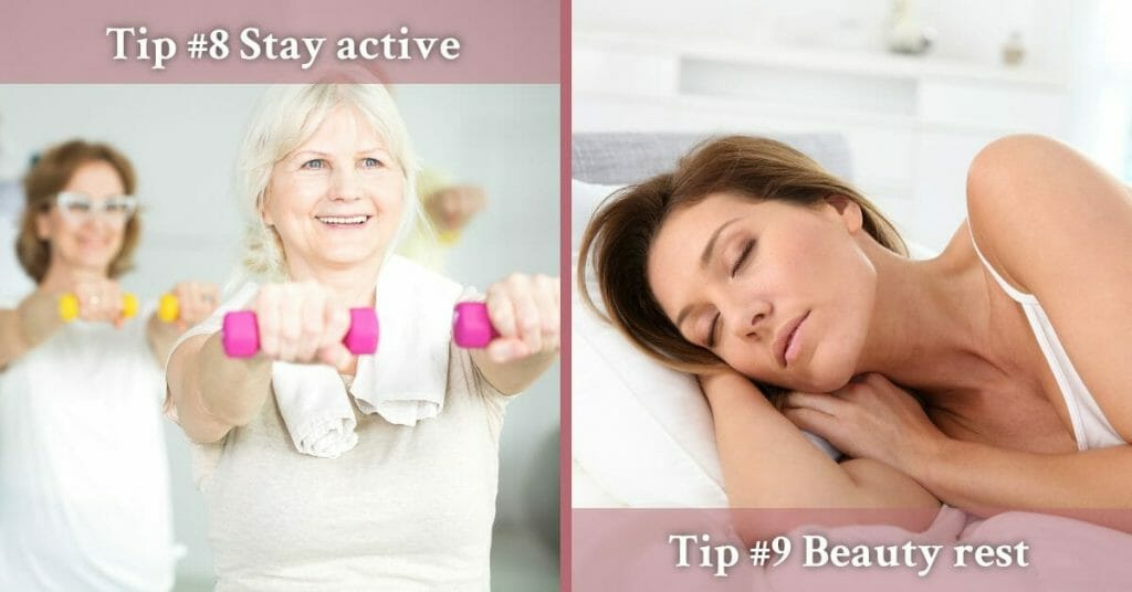 staying active and enough rest