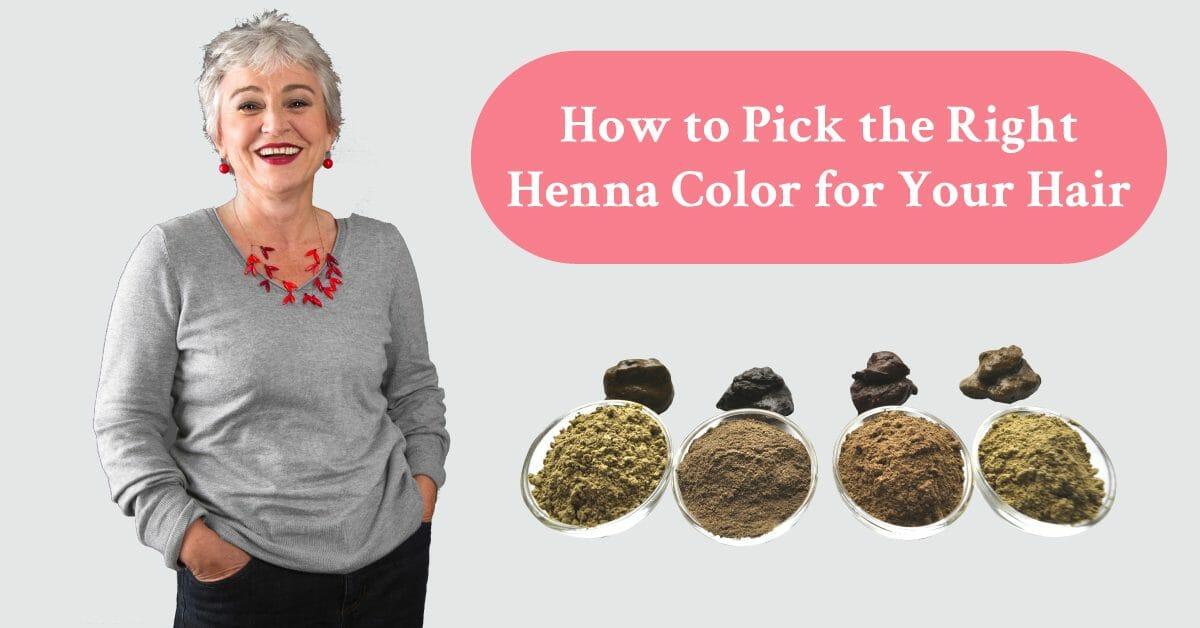 different henna powder