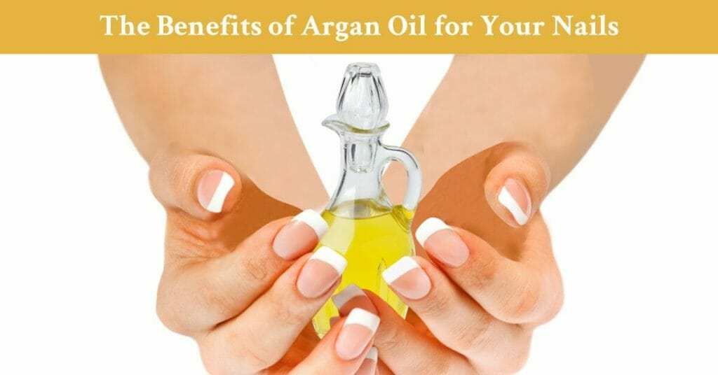 bottle argan oil hands beautiful nails