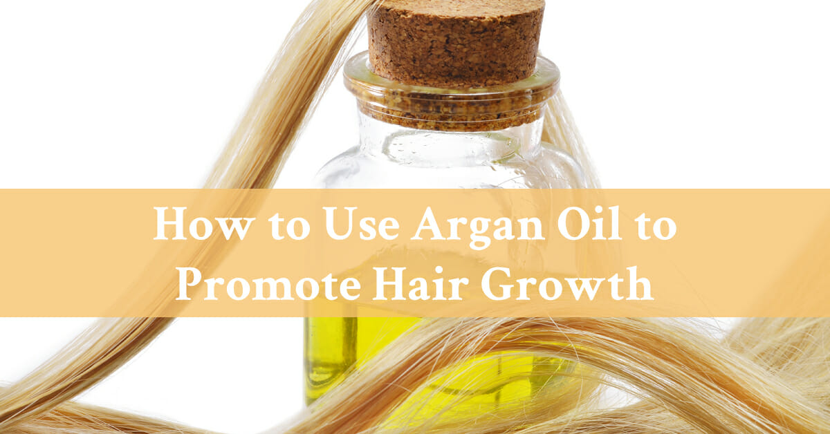 argan oil with hair strands