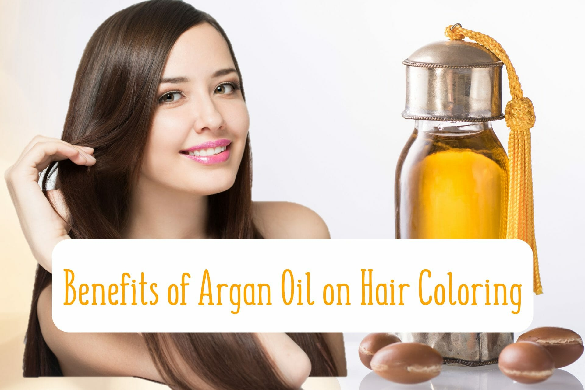 woman with argan oil